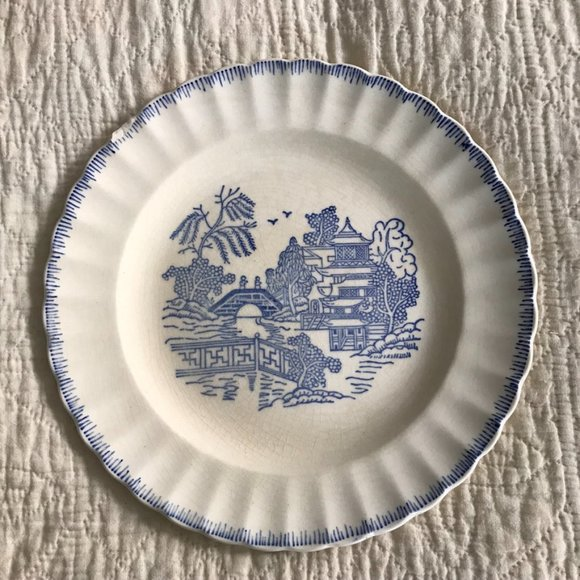 Vintage Other - Vtg Blue Willow by Limoges-American